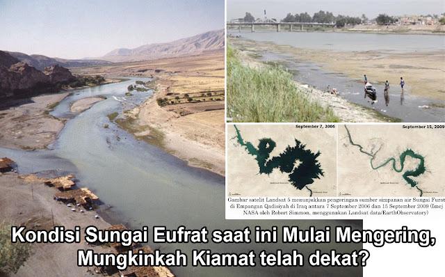 Kondisi Sungai Eufrat saat ini Mulai Mengering, Mungkinkah Kiamat telah dekat?