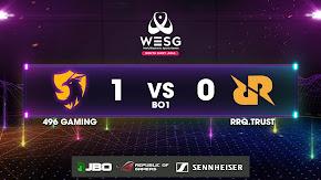 Đả bại Jabz và 23savage, 496 Gaming lọt vào top 4 của WESG SEA 2019