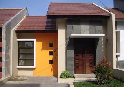 contoh warna cat teras rumah minimalis type 36 terbaru