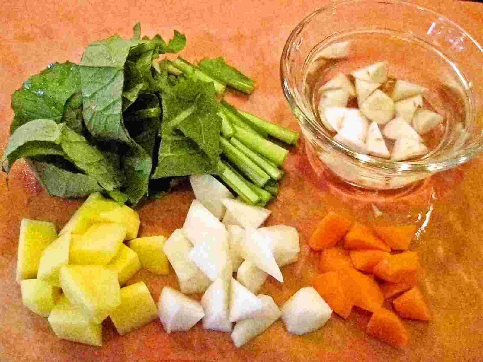 Recipes for Tom Konsai no misoshiru miso soup with root