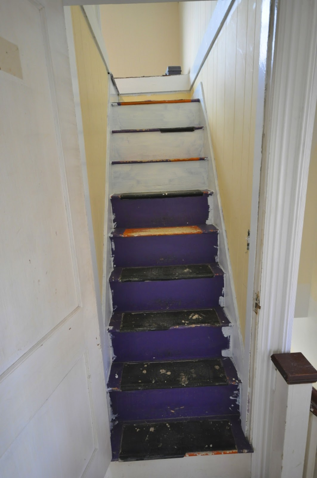 Sopo Cottage Stairwell Transformation Farewell Purple