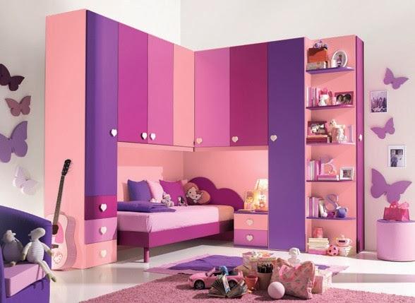 Dormitorio lila y rosa para ni as habitaci n para ni as - Decoracion habitacion infantil nina ...