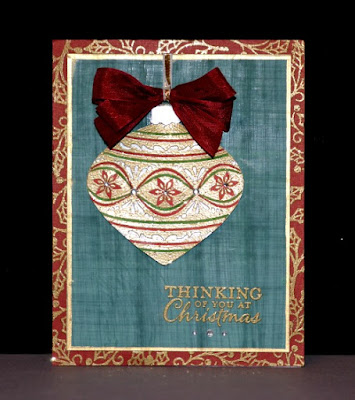 Embellished ornaments, Trude Thoman, Stamp with Trude, Stampin' Up!, Faux Linen Technique, Wednesday 101, Stamping basics
