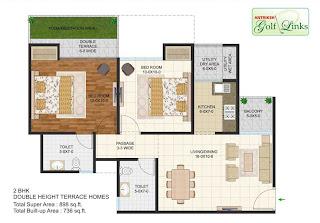 898-sq.ft.-2bhk-floor-plan-Antriksh-Golf-link