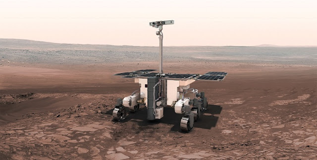 Artist's impression of the ExoMars rover. Image Credit: ESA