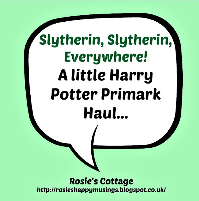 Slytherin, Slytherin Everywhere! A Little Harry Potter Primark Haul