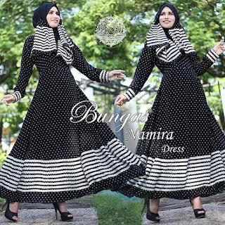 Dress dan Set Phasmina Namira By Bungas warna hitam