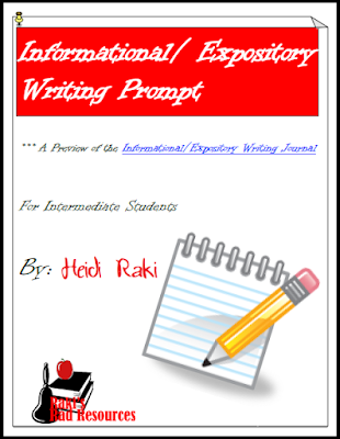 Free informational writing prompt to help students with the writing process - from Raki's Rad Resources.