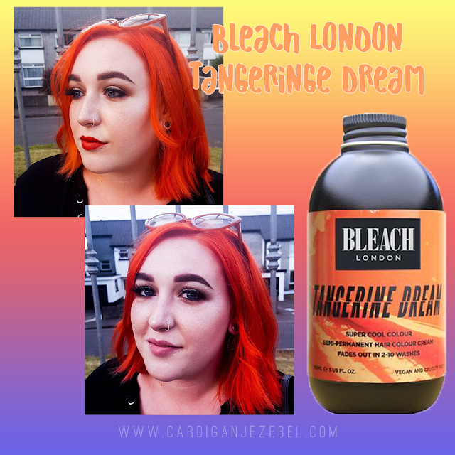 After using Bleach London Tangerine Dream results and review