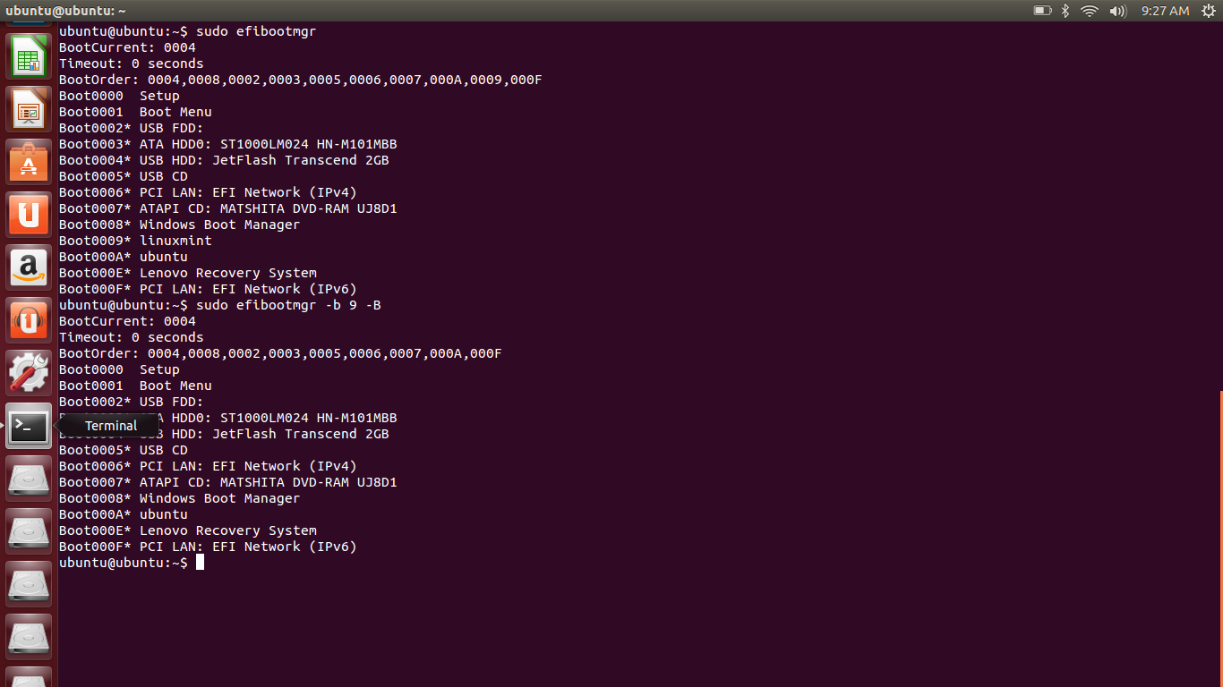 how to get to bios in ubuntu