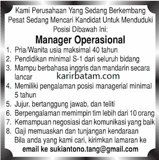 Lowongan Kerja Manager Operational