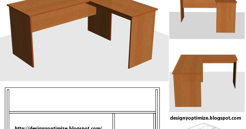 Dise o de muebles madera c mo construir escritorio para for Medidas mesa oficina