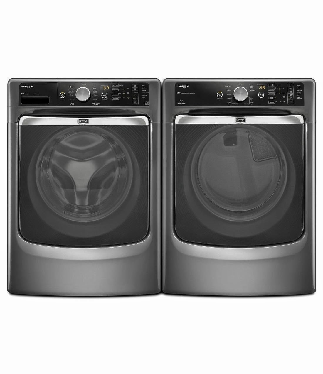 Maytag Xl Front Load Steam Washer And Steam Dryer Sets