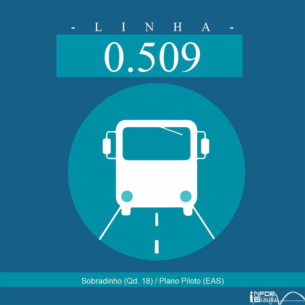 Horário de ônibus e itinerário 0.509 - Sobradinho (Qd. 18) / Plano Piloto (EAS)