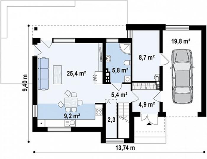 Mẫu thiết kế biệt thự nghỉ dưỡng 2 tầng hiện đại 127m2- 3