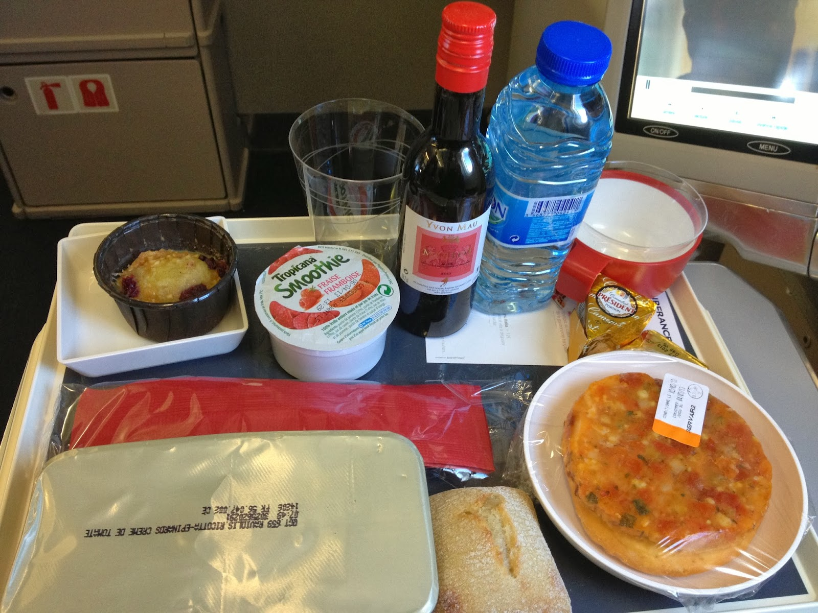 Comida a Bordo con Air France