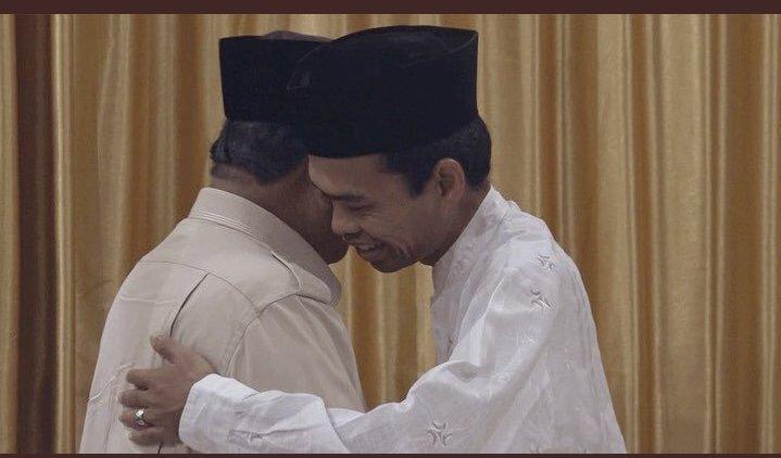 Cerita UAS ke Prabowo Soal 10 Jari