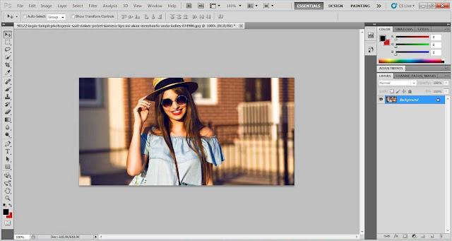 cara edit foto efek selective color