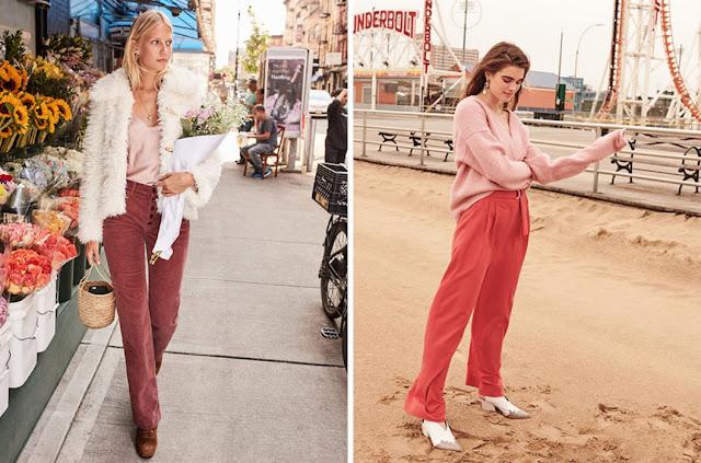 Пастельные образы с розовым топом и брюками