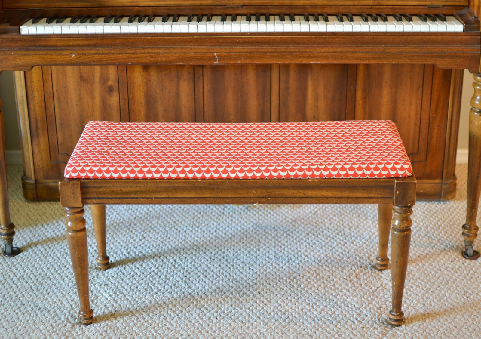 Blue Susan Makes How To Recover A Piano Bench