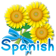 Thanks with flowers in Spanish Rev.