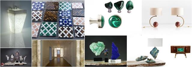 Semi-Precious Stones For Interior Decoration