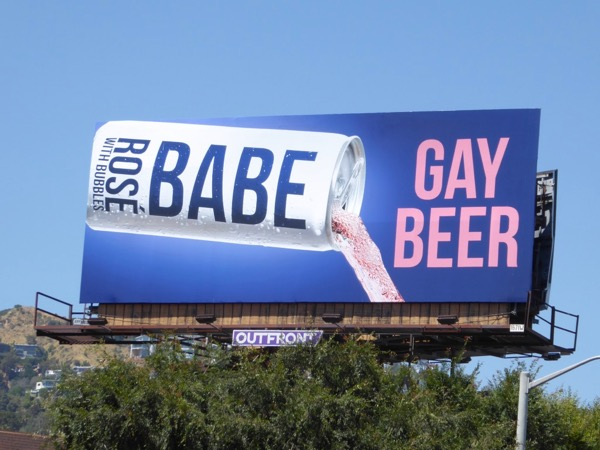 Rose Babe Gay beer billboard