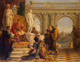 Maecenas Presenting the Liberal Arts to Emperor Augustus by Giovanni Battista Tiepolo - History Paintings from Hermitage Museum