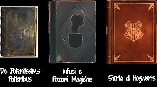 De Potentissimis Potionibus, Infusi e Pozioni Magiche e Storia di Hogwarts