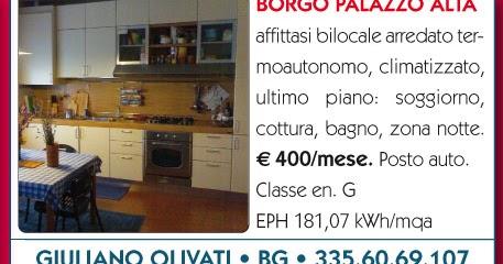 Bilocale affitto bergamo centro via borgo palazzo for Bilocale arredato bergamo