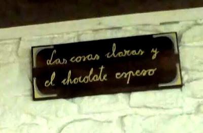 el chocolate espeso