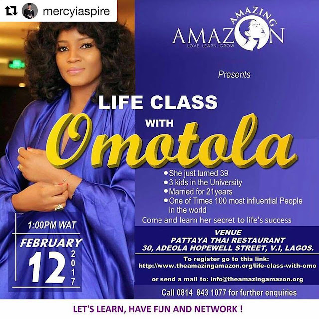 life class with Omotola