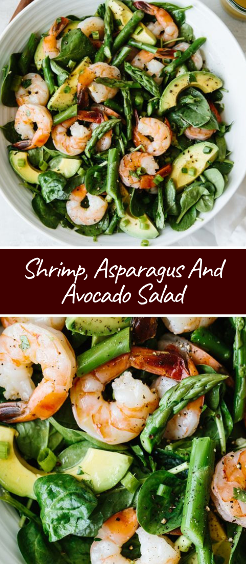 Shrimp, Asparagus And Avocado Salad #healthyfood #dietketo