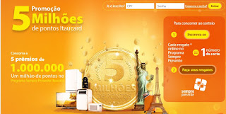 """Promoção """"5 Milhões De Pontos Itaucard"""""""