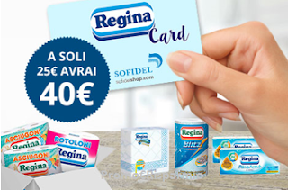 Logo Card Regina per Sofidelshop: a soli 25 euro la tua spesa da 40 € + Lovies per Lovby