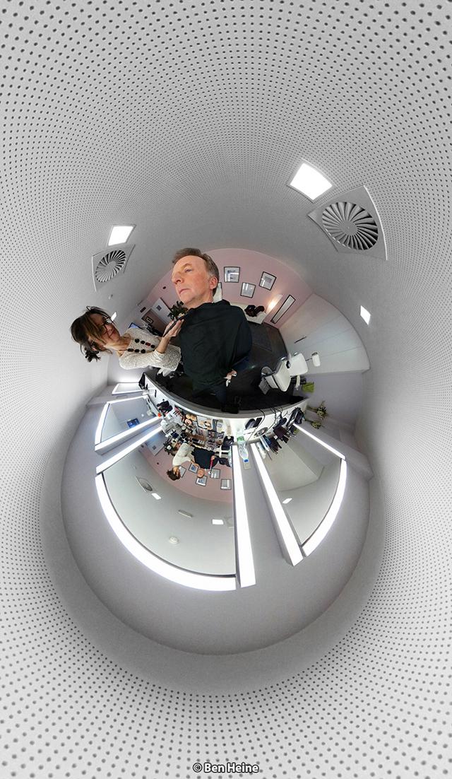 François de Brigode - Séance Maquillage avec Pascale Dero - Présentateur journal RTBF et Photographe - Portrait par Ben Heine 2017 - Samsung gear 360