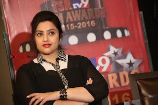 Tamil Actress Meena Latest Stills in Black Dress at TSR TV9 Awards Press Meet  0180.JPG