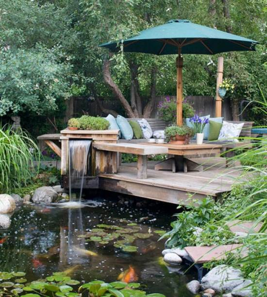 Gambar taman belakang rumah yang nyaman