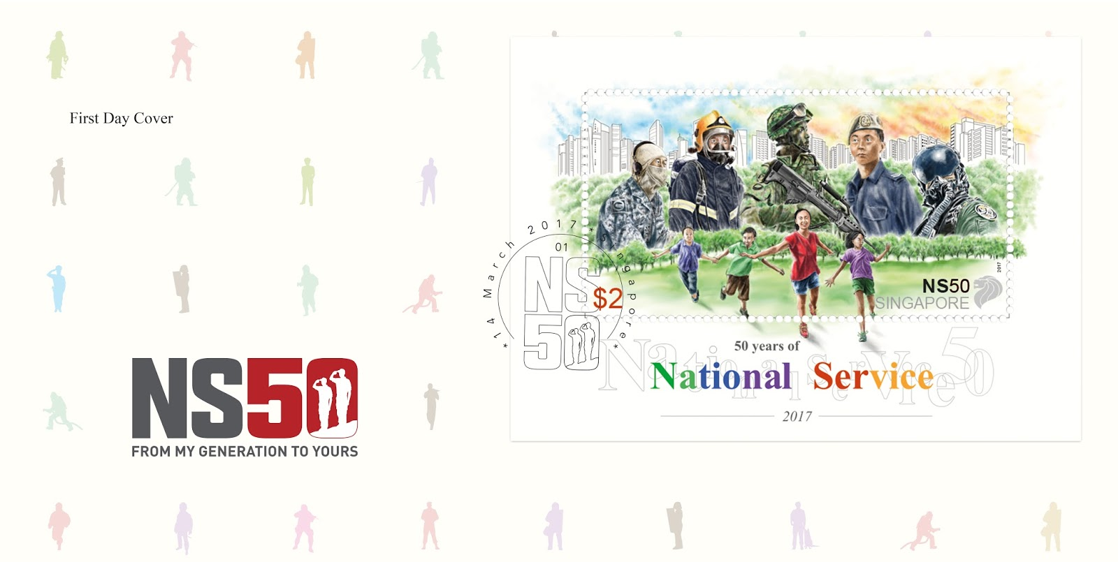1st day Cover, postmarked version of a $2 stamp with the release date - March 14, 2017 - will be sold at $2.85 each.