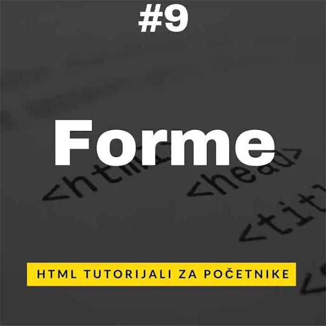 Forme u HTML web jeziku