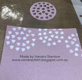 texture paste, #CTMHVandra, blog hop, technique, hearts, #CTMHBoutique, Boutique, survivor, Ribbon, Cancer Awareness, bling, base and bling, sugarplum, dots,