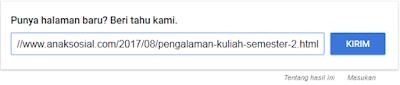 submit url ke google