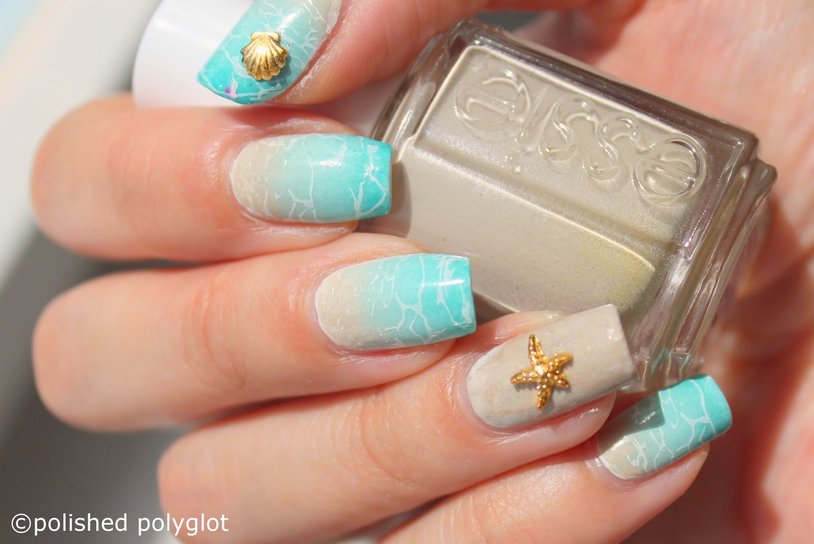 Nail art beach nails polished polyglot what do you think of this manicure yay or nay any nice plans for the weekend dont forget my zoya giveaway is still open you can enter and read all prinsesfo Image collections