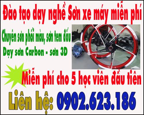 Đào tạo dạy nghề sơn xe máy miễn phí tại Tphcm
