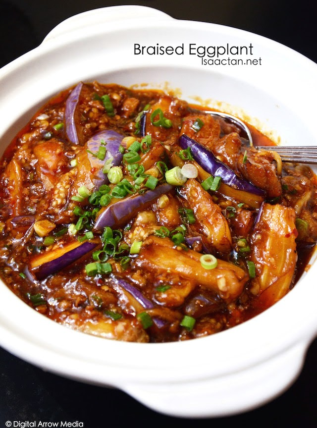 Braised Eggplant with Garlic and Chilli Sauce