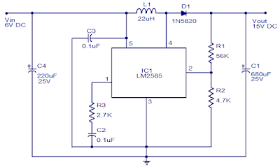 6 to 15V DC to DC Converter Circuit Diagram