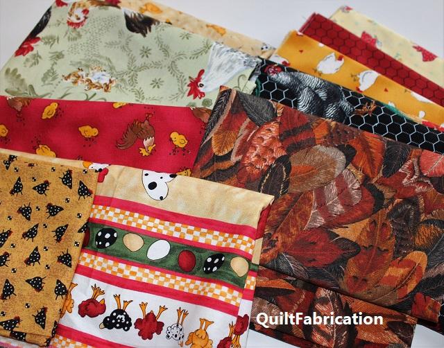 chicken fabrics for chicken quilt