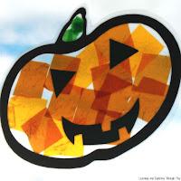 Pumpkin Suncatcher - Halloween Activities for Kids