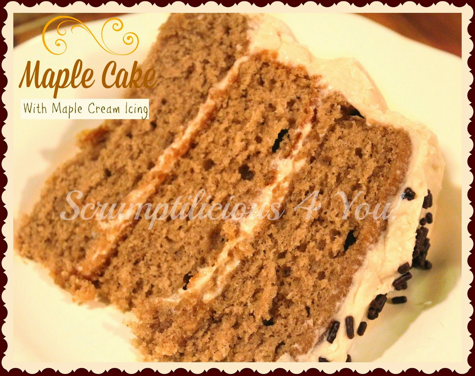 Cake Recipes Using Maple Flavoring