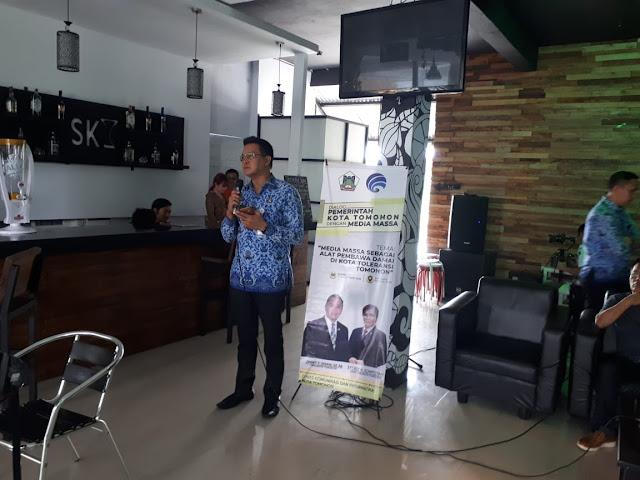 Kolaborasi Diskominfo Bersama Wartawan Biro Tomohon Tolak Hoax